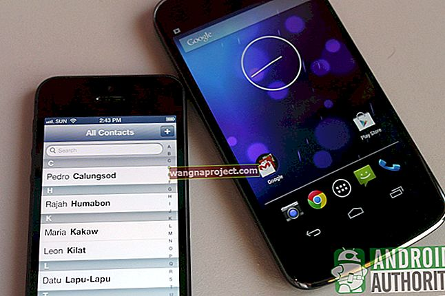 Прехвърляне на контакти от iPhone на Android; Как да