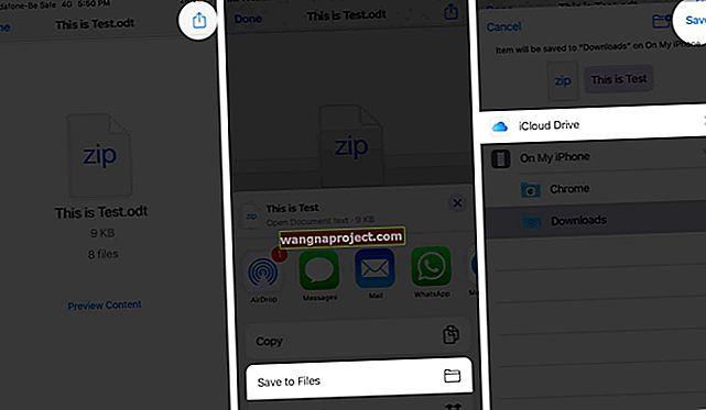 Kako spremiti foto prilog na svoj iPad