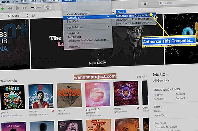 כיצד לאשר מחשב ב- iTunes