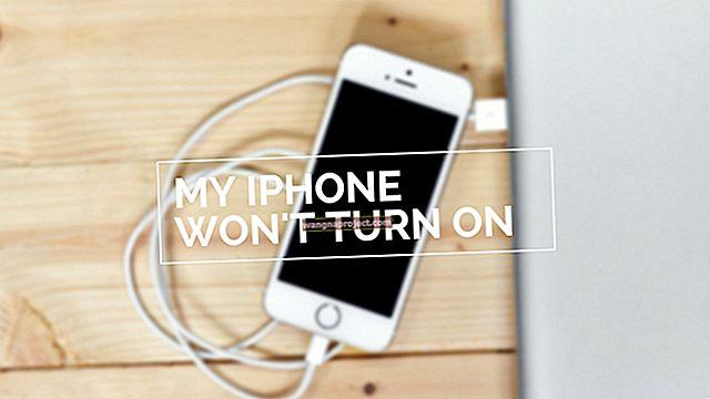 iPhone 5 няма да се включи, поправете