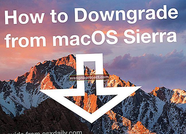 วิธีดาวน์เกรดจาก macOS Sierra เป็น El Capitan